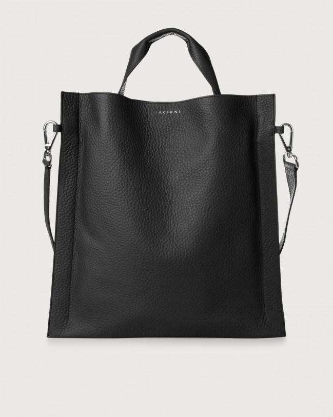Orciani Iris Soft leather shoulder bag Leather Black