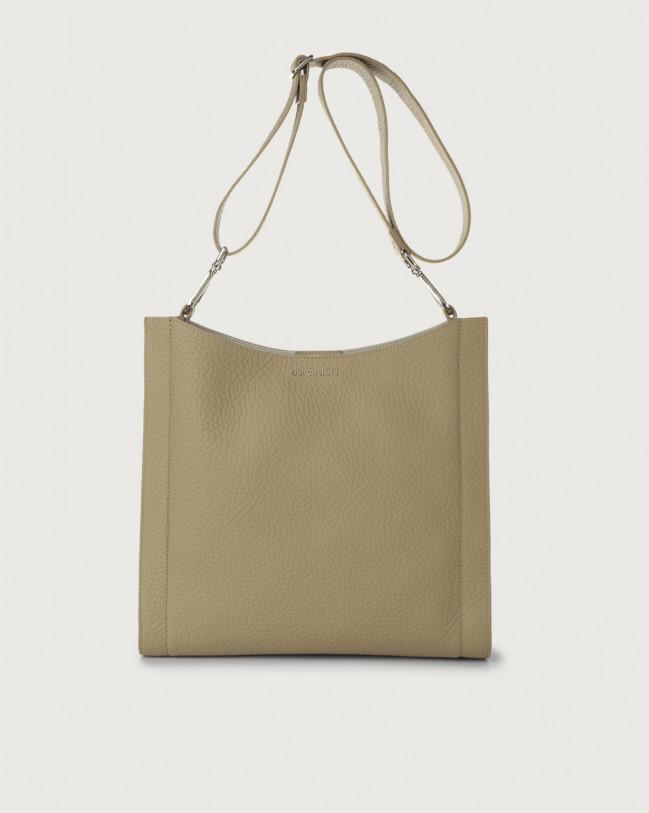Orciani Iris Soft leather crossbody bag Leather Kaki