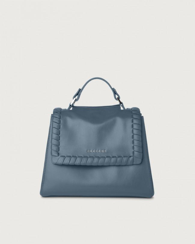 Orciani Sveva Liberty small leather handbag with strap Leather Denim