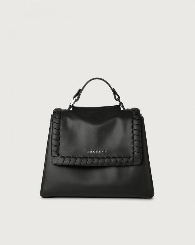 Orciani Sveva Liberty small leather handbag with strap Leather Black