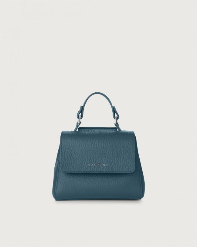 Orciani Sveva Soft mini leather handbag with strap Leather Blue