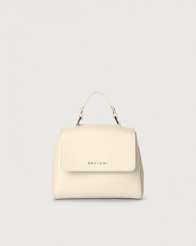 Orciani Sveva Soft mini leather handbag with strap Leather Ivory