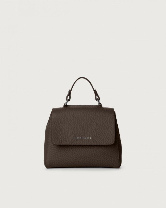 Orciani Sveva Soft mini leather handbag with strap Leather Chocolate