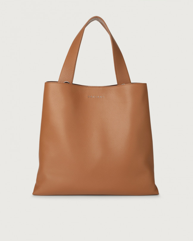 Orciani Jackie Micron leather shoulder bag Leather Caramel