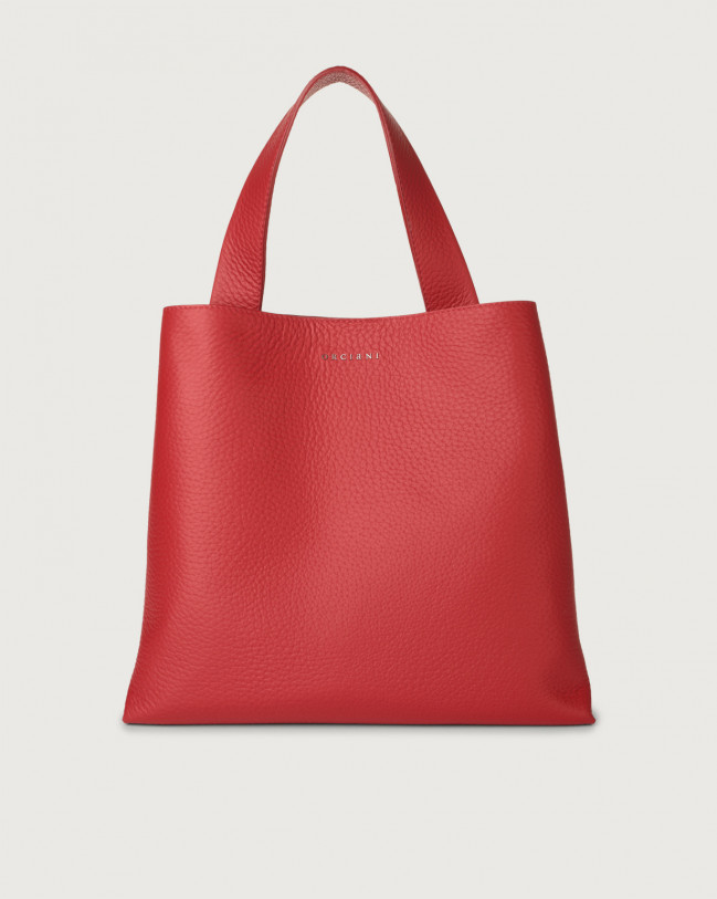 Orciani Jackie Soft leather shoulder bag Leather Marlboro red