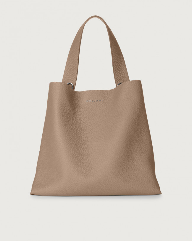 Orciani Jackie Soft leather shoulder bag Leather Taupe
