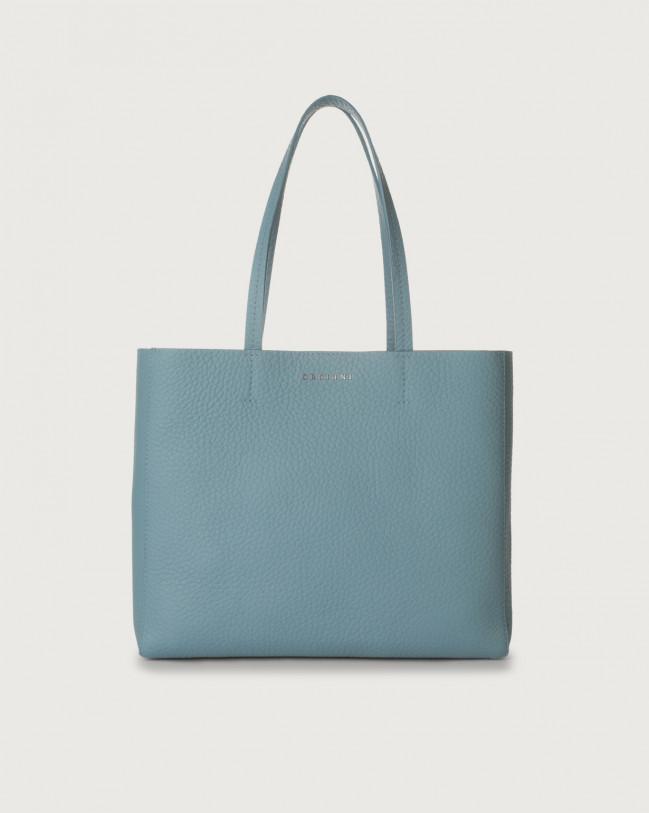 Orciani Le Sac Soft small leather tote bag Leather Light blue