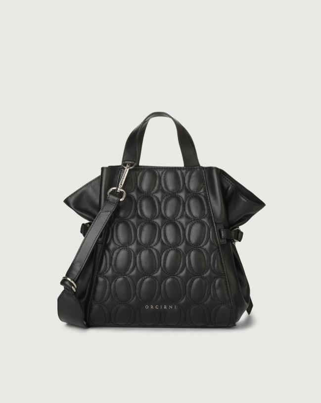 Orciani Fan Matelassé small leather handbag Leather Black