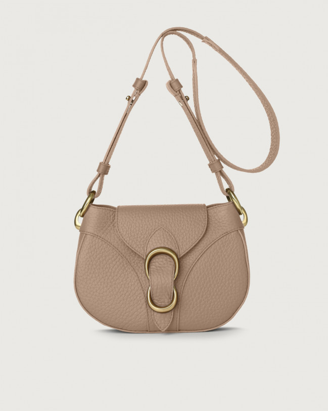 Orciani Beth Soft leather crossbody bag Leather Taupe