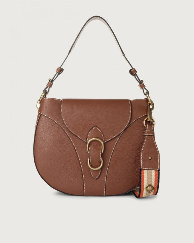 Orciani Beth Fanty large leather shoulder bag Leather Cognac