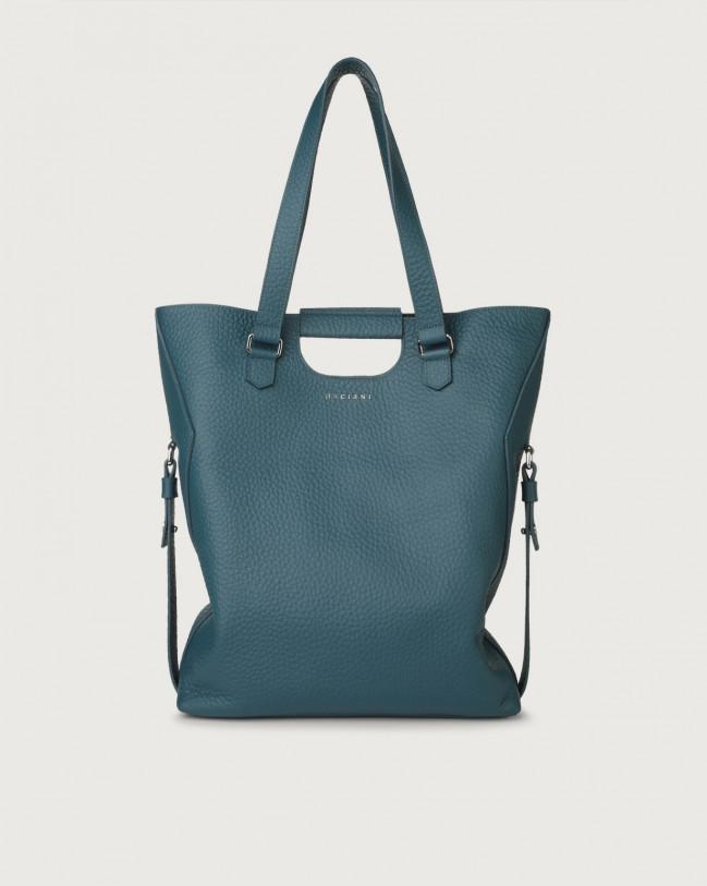 Orciani Isotta Soft large leather shoulder bag Leather Blue