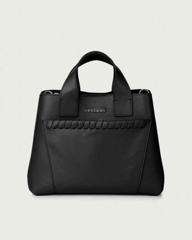 Orciani Nora Liberty leather handbag Leather Black
