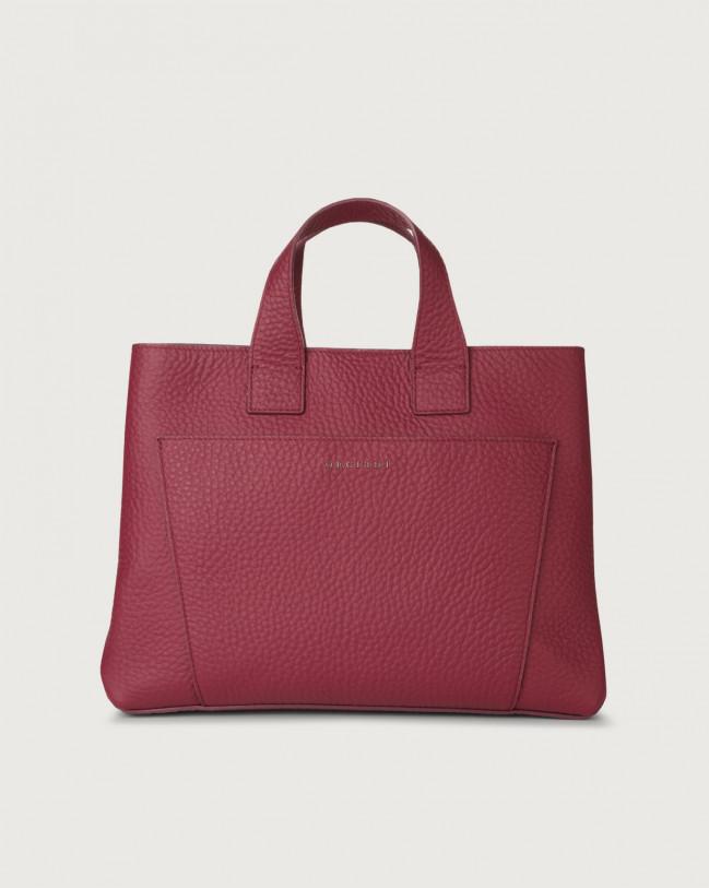Orciani Nora Soft large leather handbag Leather Purple