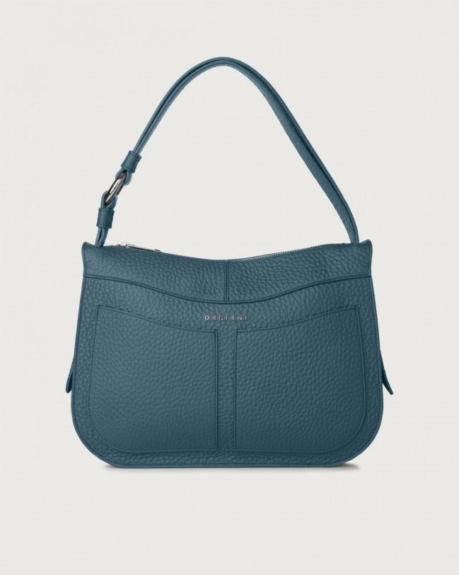 Orciani Ginger Soft medium leather shoulder bag Leather Blue