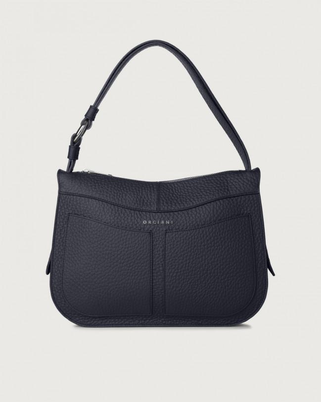Orciani Ginger Soft medium leather shoulder bag Leather Navy