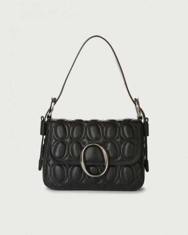 Orciani Soho Matelassé leather mini bag with strap Leather Black