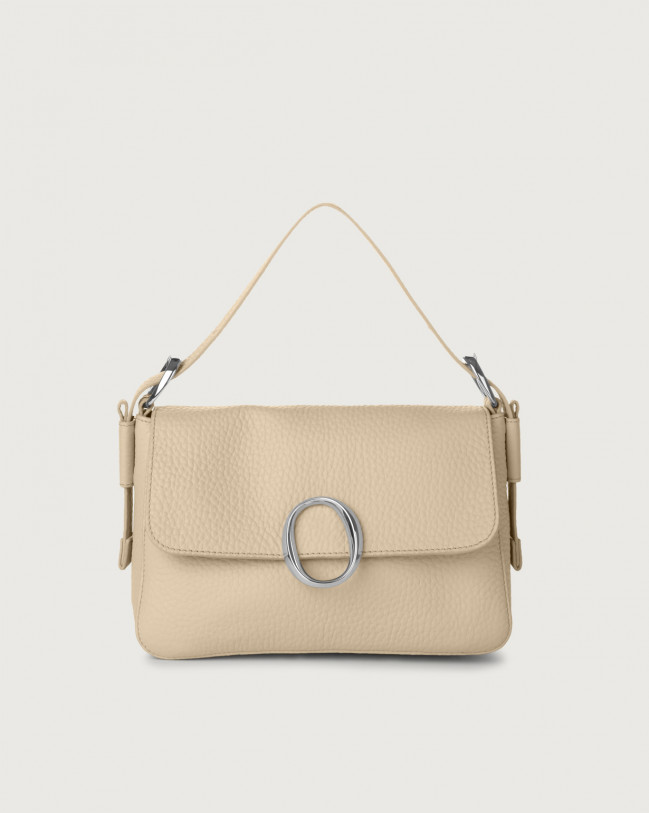 Orciani Soho Soft leather baguette bag with strap Leather Sand