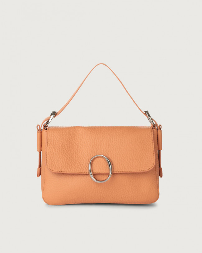 Orciani Soho Soft leather baguette bag with strap Leather Fard