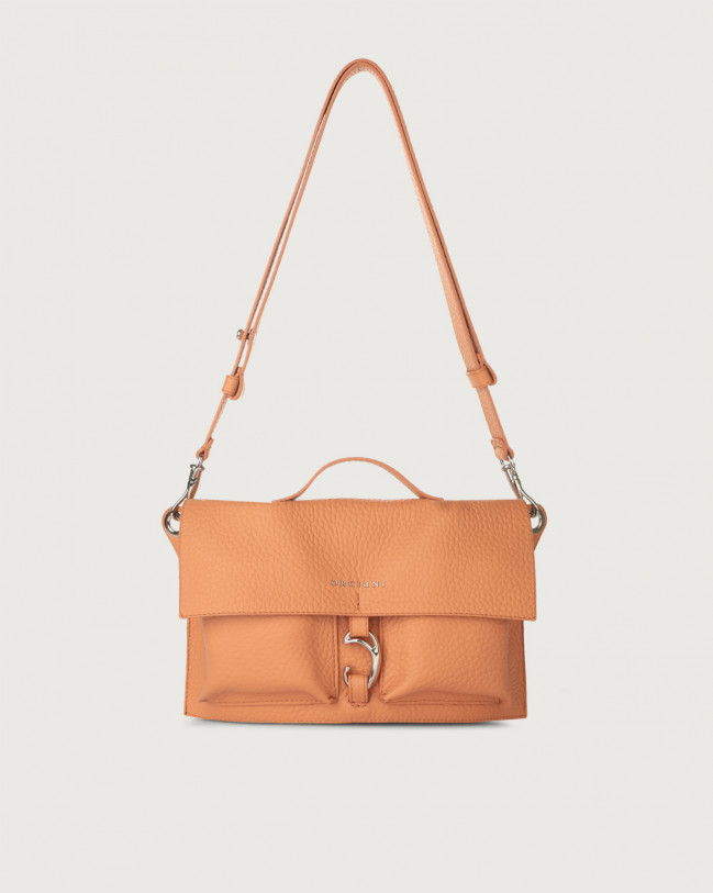 Orciani Scout Soft leather crossbody bag Leather Fard