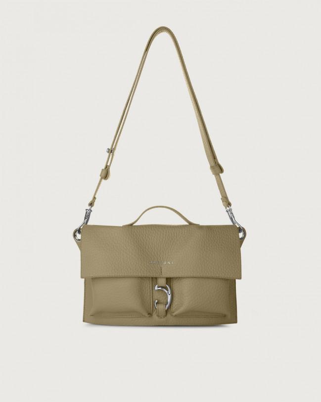 Orciani Scout Soft leather crossbody bag Leather Kaki