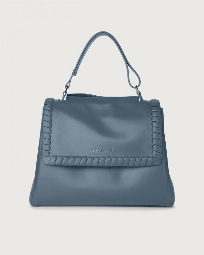 Orciani Sveva Liberty medium leather shoulder bag with strap Leather Denim