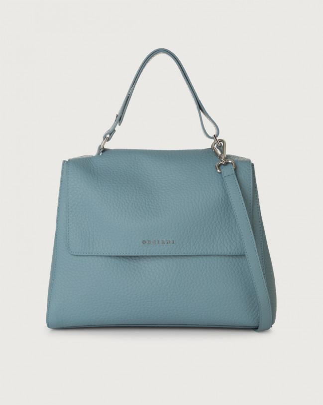 Orciani Sveva Soft medium leather shoulder bag with strap Leather Light blue