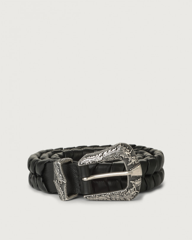 Orciani Liberty western details leather belt Leather Black