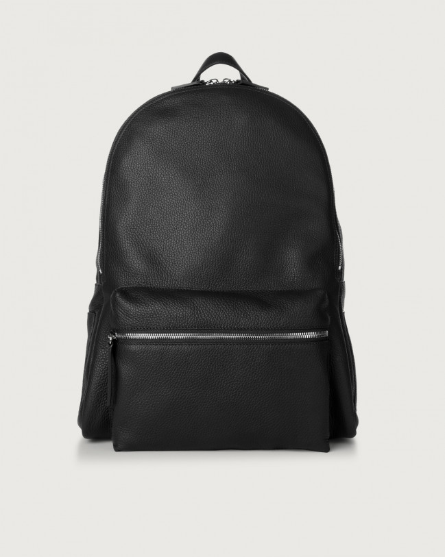 Orciani Micron leather backpack Leather Black