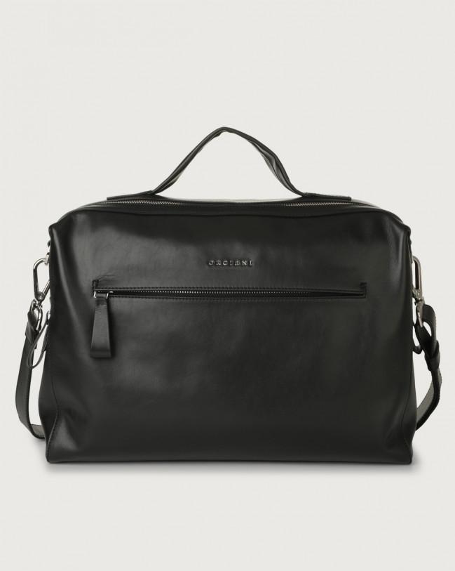 Orciani Bond Liberty leather duffle bag Leather Black