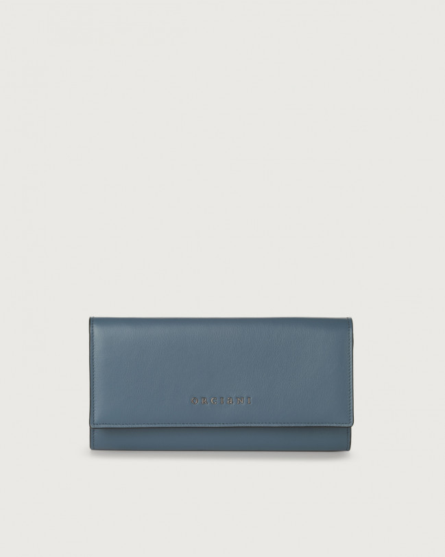 Orciani Liberty leather envelope wallet Leather Denim