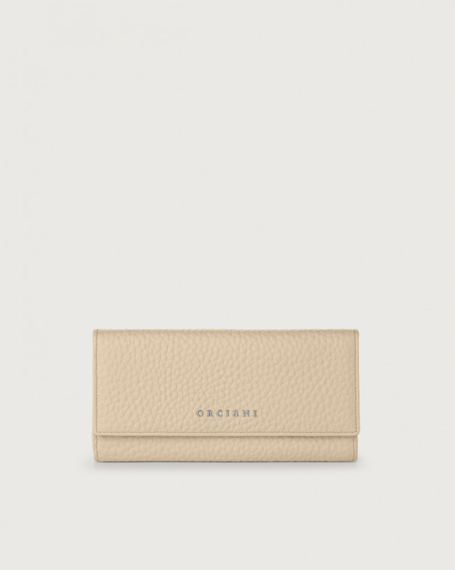Orciani Soft leather envelope wallet with RFID Leather Sand