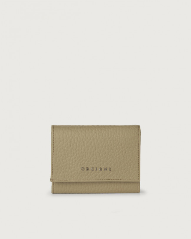 Orciani Soft small leather envelope wallet with RFID Leather Kaki