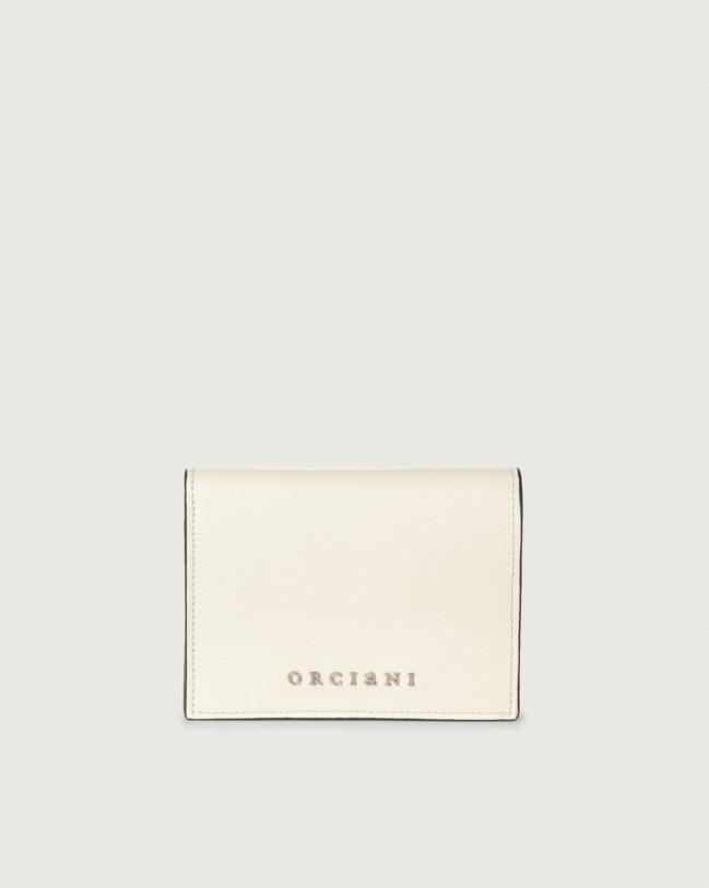 Orciani Liberty small leather wallet Leather White