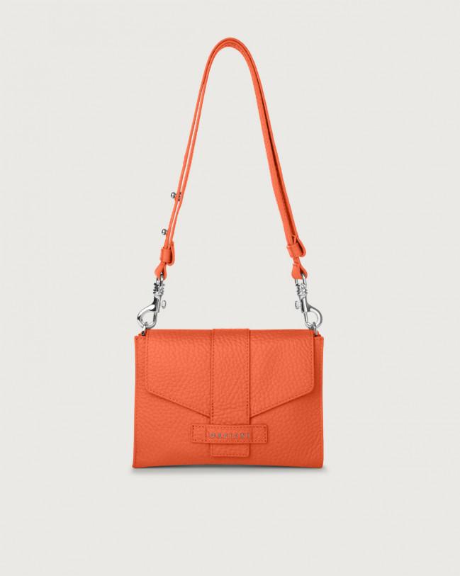 Orciani Soft leather mini bag Leather Coral