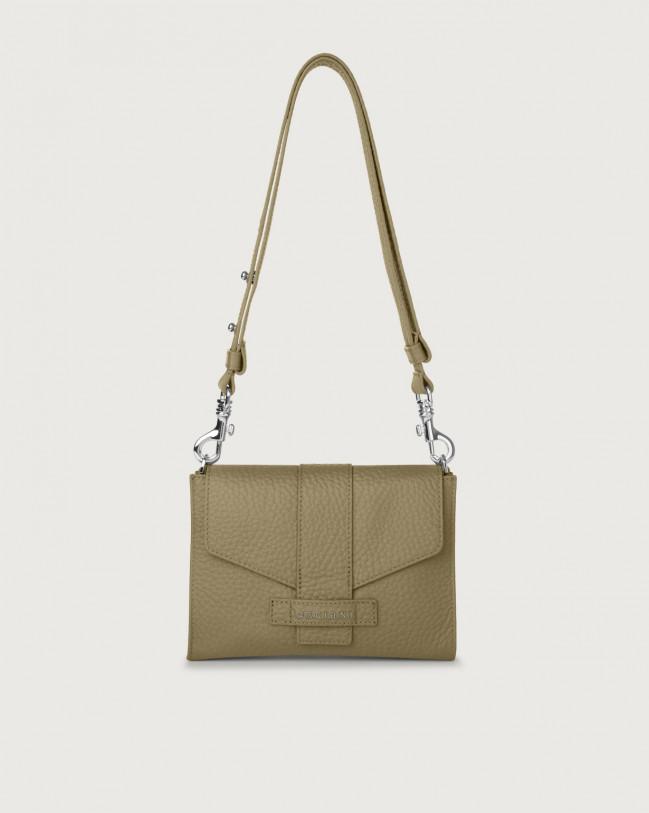 Orciani Soft leather mini bag Leather Kaki