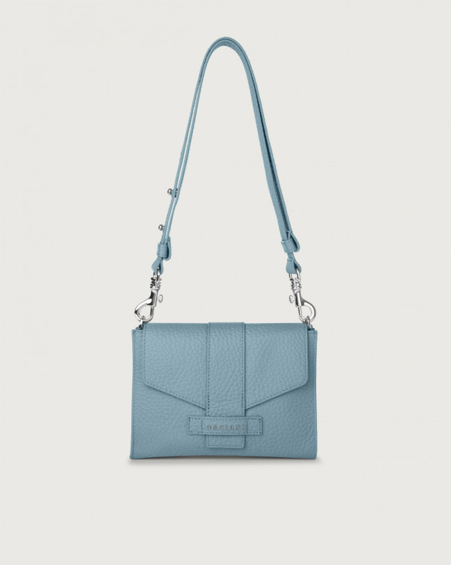 Orciani Soft leather mini bag Leather Light blue