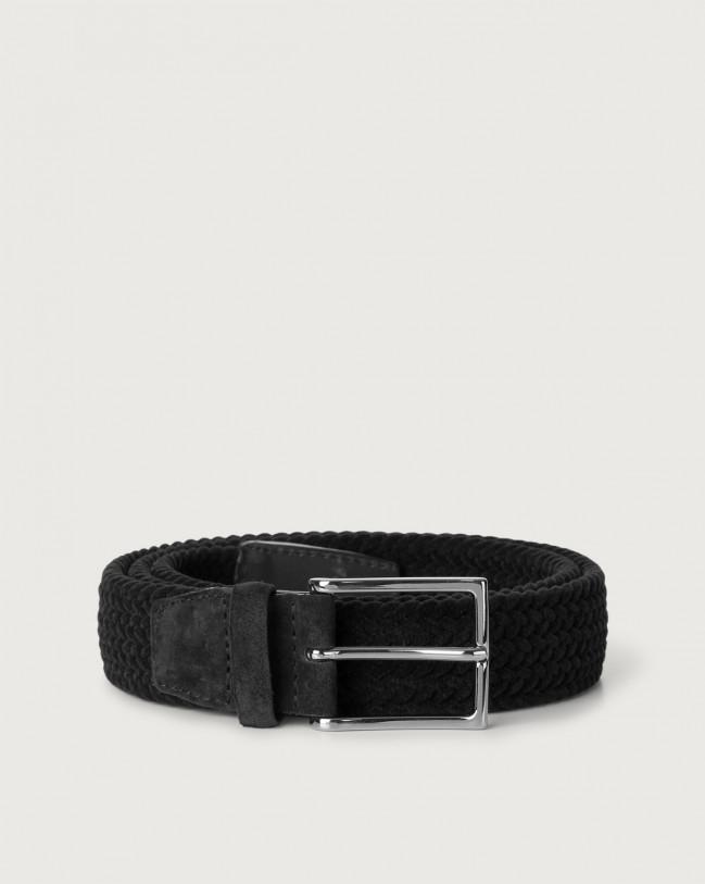 Orciani Royal velvet and suede belt Velvet Black