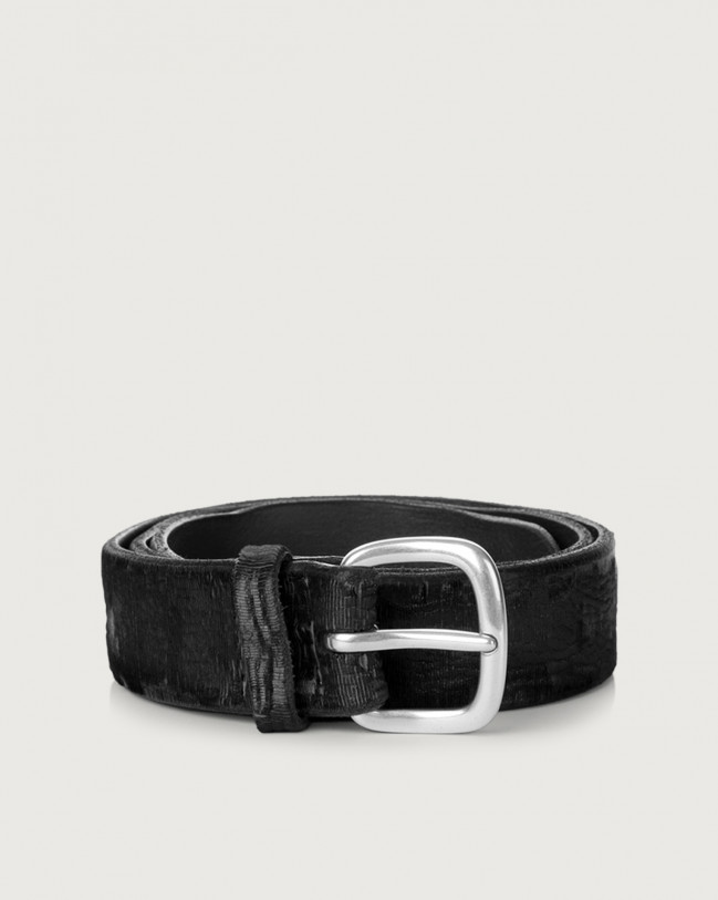 Orciani Cutting leather belt 3,5 cm Leather Black
