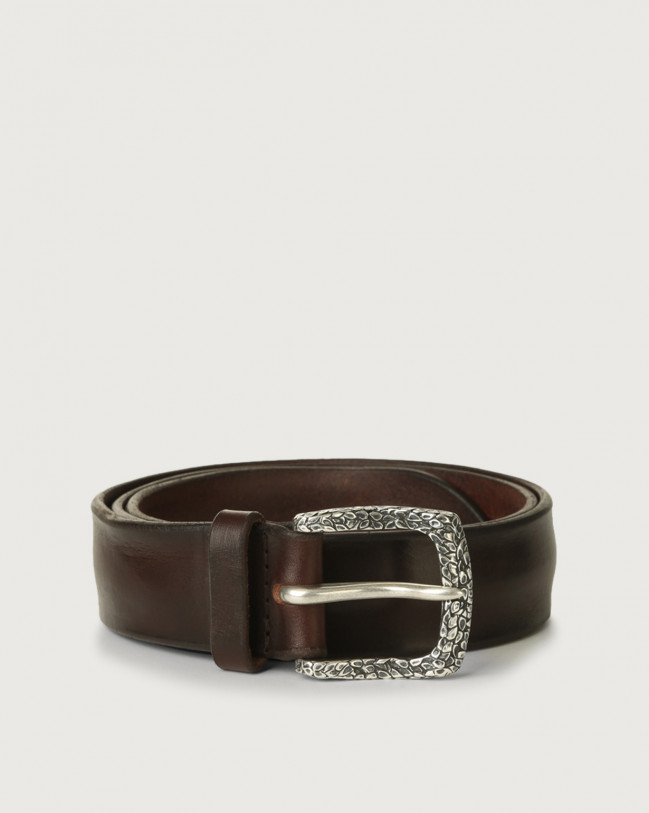 Orciani Bull Soft A leather belt Leather Chocolate