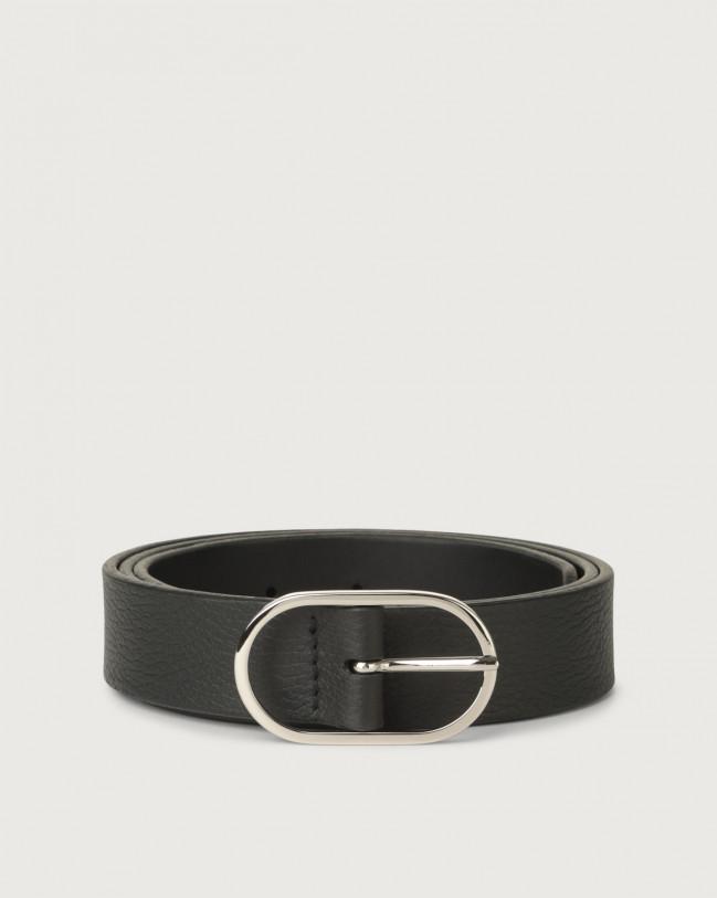Orciani Dollaro leather belt Leather Black