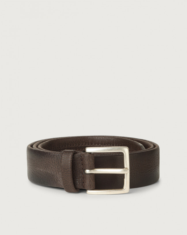 Orciani Chevrette nabuck leather belt Nabuck Chocolate