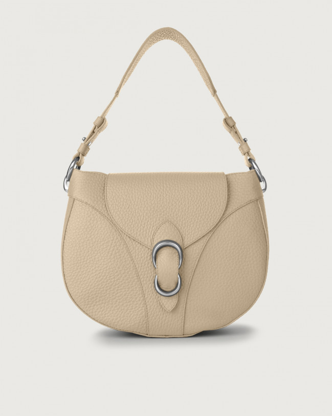 Orciani Beth Soft leather shoulder bag Leather Sand