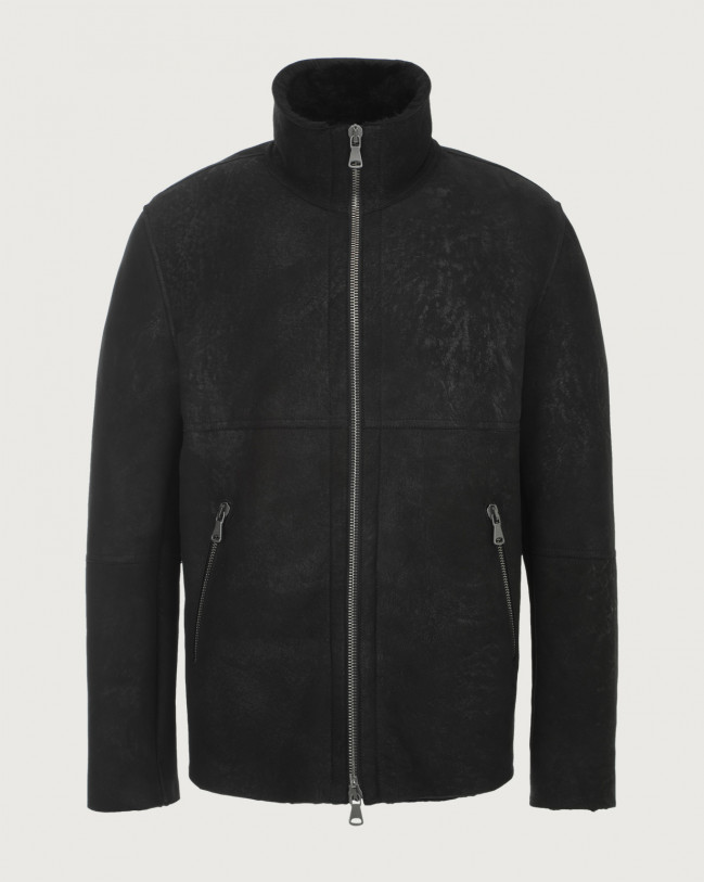 Orciani Aspen shearling jacket Shearling Black