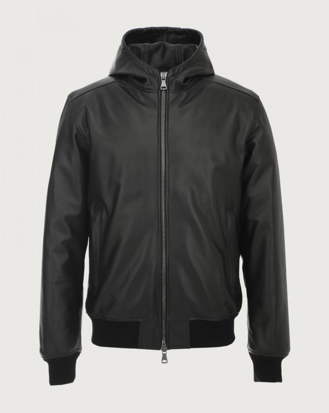 Orciani Nappa leather jacket with hood Leather Black