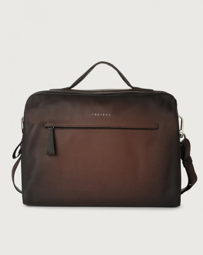 Orciani Bond Micron Deep leather duffle bag Leather Brown