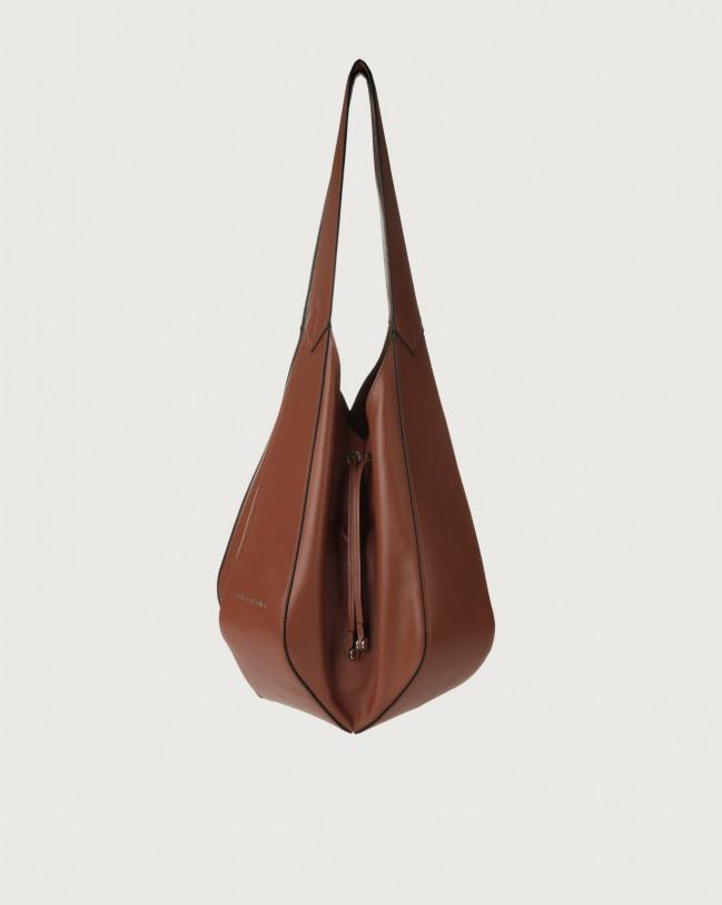 Orciani Palma Liberty leather shoulder bag Leather Cognac