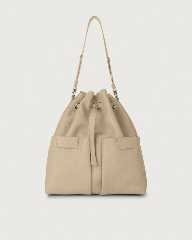 Orciani Tessa Soft large leather bucket bag Leather Sand