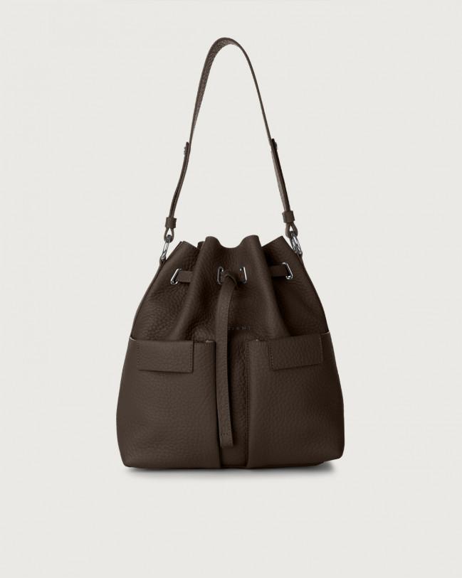 Orciani Tessa Soft medium leather bucket bag Leather Chocolate