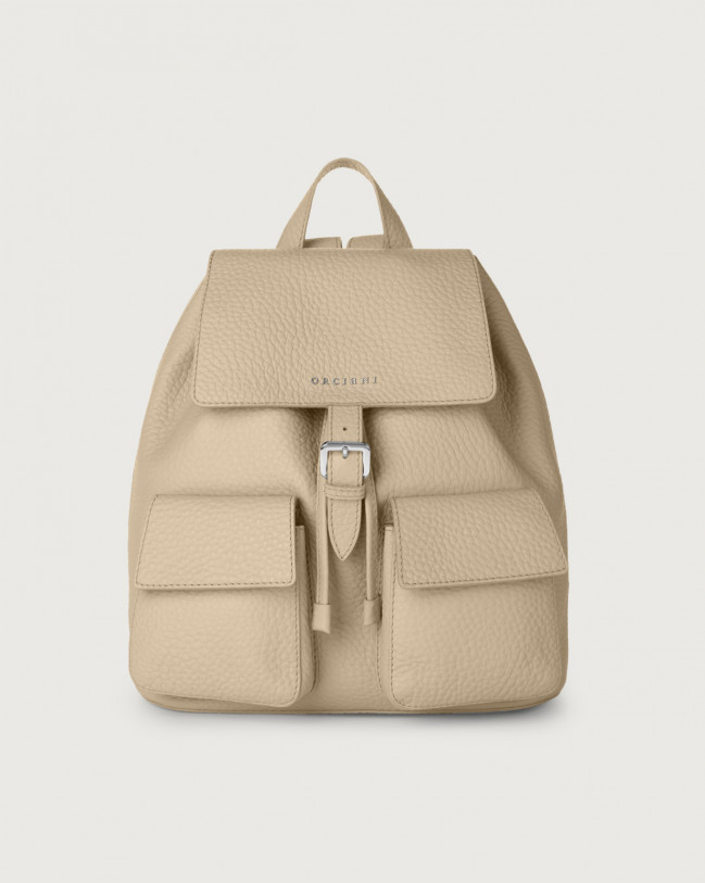 Orciani Charlotte Soft leather backpack Leather Sand