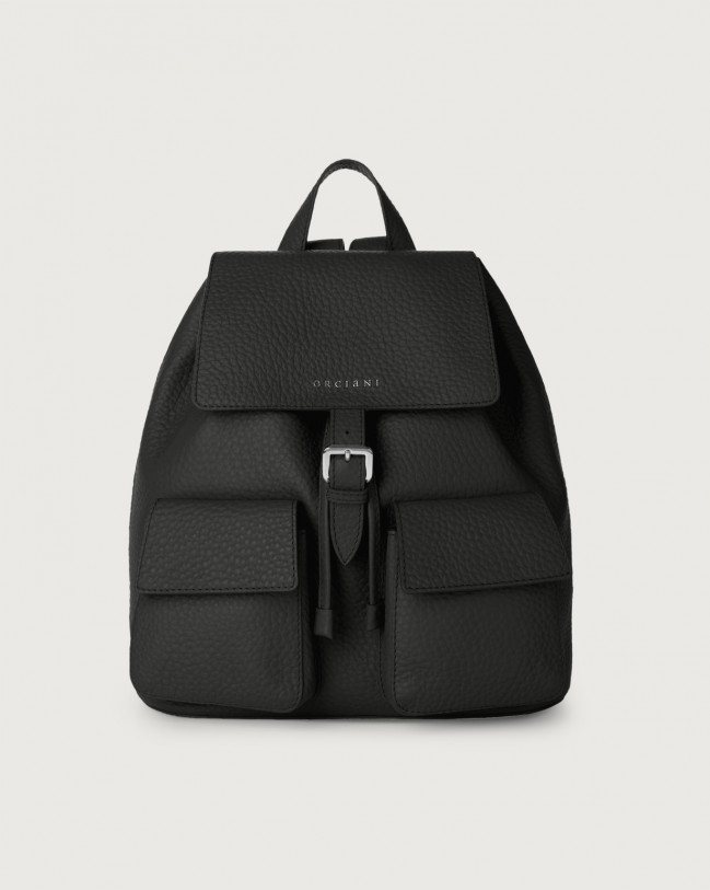 Orciani Charlotte Soft leather backpack Leather Black